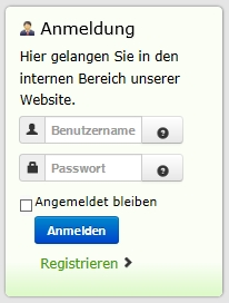 Interner Bereich FSG Website
